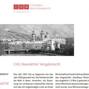 CHG-Newsletter Vergaberecht Nr. 2 erschienen