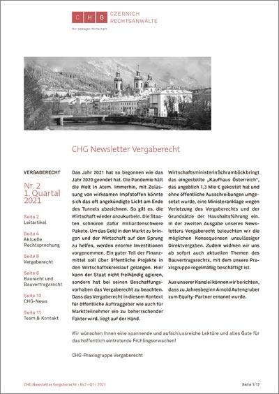 CHG Newsletter Vergaberecht