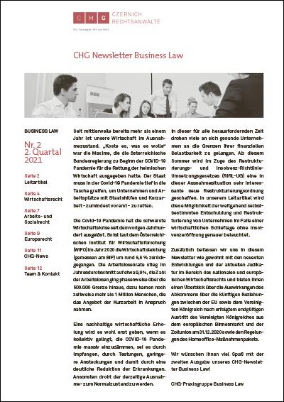 CHG Newsletter Business Law